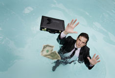 Falling Money Stock Photos
