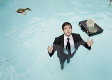 Falling Money Stock Photography