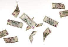 Falling money Royalty Free Stock Photography