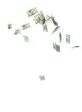 Falling money Stock Image