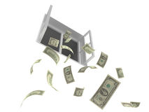 Falling money Royalty Free Stock Image