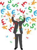 Falling money Stock Photography
