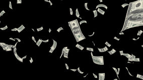 Falling money, dollars