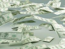 Falling money Stock Images