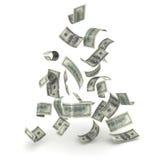 Falling Money. On white vector illustration
