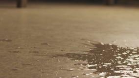 Falling mug of water slow motion stock video