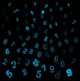 Falling numbers, digits beautiful background design wallpaper.  Royalty Free Stock Image