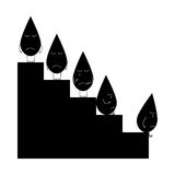 Falling oil graphic Stock Photography