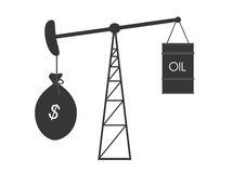 Falling oil prices Royalty Free Stock Image