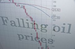 Falling oil prices Stock Photos