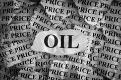 Falling oil prices Royalty Free Stock Photos