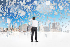 Falling paper Royalty Free Stock Image