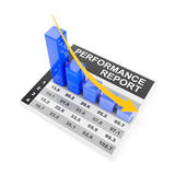 Falling performance chart Royalty Free Stock Image