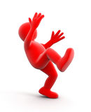 Falling person. Image with clipping path Stock Photo