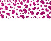 Falling pink glittery hearts on a white background. Royalty Free Stock Photos