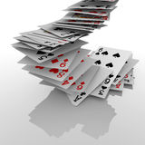 Falling poker cards Royalty Free Stock Photos