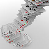 Falling poker cards Royalty Free Stock Photography
