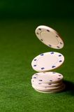 Falling Poker Chips Royalty Free Stock Image