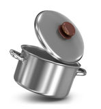 Falling pot with lid vector illustration