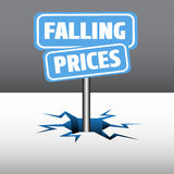 Falling prices plates Stock Photo