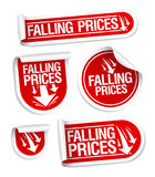 Falling Prices stickers. Royalty Free Stock Image