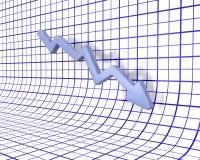 Falling profits Stock Photo