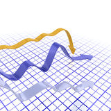 Falling profits Stock Photos