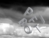 Falling profits Stock Images