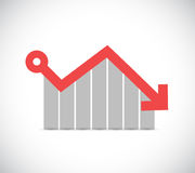 falling profits business graph illustration Stock Photo