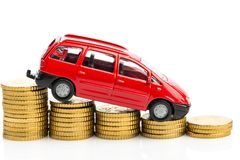 Falling profits in the motor trade. Falling profits in the car trade and car manufacturers royalty free stock photography