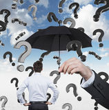 Falling question mark Royalty Free Stock Photo