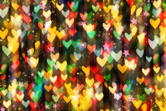 Falling rain colored hearts. Royalty Free Stock Photos