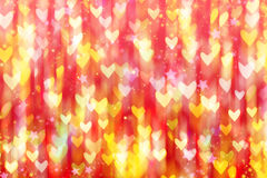 Falling rain colored hearts. Royalty Free Stock Photography