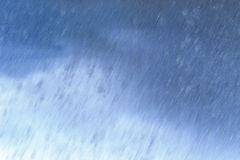 Falling rain illustration Stock Photography