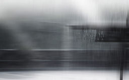 Falling rain on the roof in the light, motion blur concept Royalty Free Stock Images