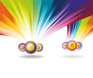 Falling rainbows Stock Images