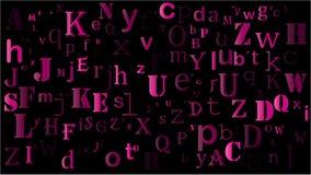Falling random letters, alphabet beautiful background design vector illustration