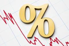 Falling rates Stock Photos
