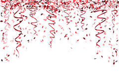 Falling red confetti. Falling oval confetti with different red colors and size Royalty Free Stock Photos