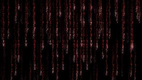 Falling red matrix code stock video