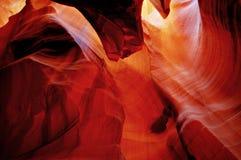 Falling Red Rocks Stock Image