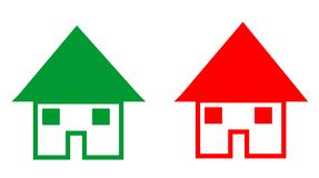 Falling and rising house prices Stock Photos