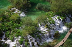 Falling river in summer Stock Image