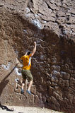 Falling rock climber Stock Photos