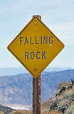 Falling Rock Sign Royalty Free Stock Photo