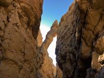 Falling Rock in Slot Canyon Stock Image