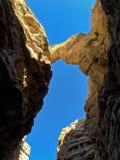 Falling Rock in Slot Canyon Stock Photos