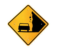 Falling Rocks Ahead Royalty Free Stock Image