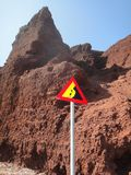 Falling rocks Stock Photos