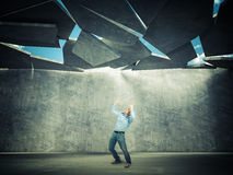 Falling roof Stock Photography